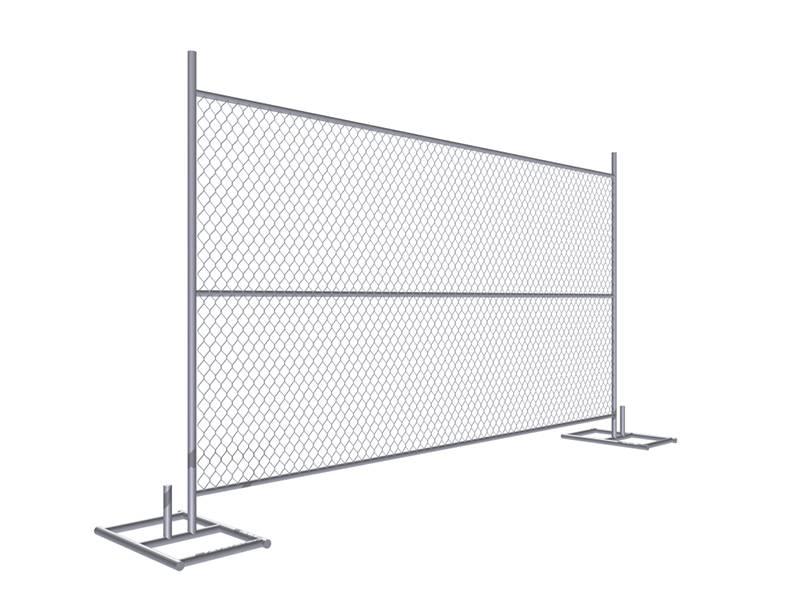 6\' × 10\' Temp Chain Link Fence Prevent Theft & Vandalism on Job Sites