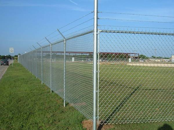 Galvanized chain link fencing are surrounding the park.