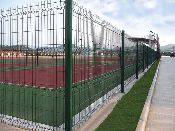 Security fences surround the playground.