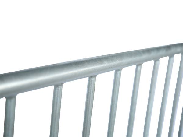 A detail of welding point of steel barricades.