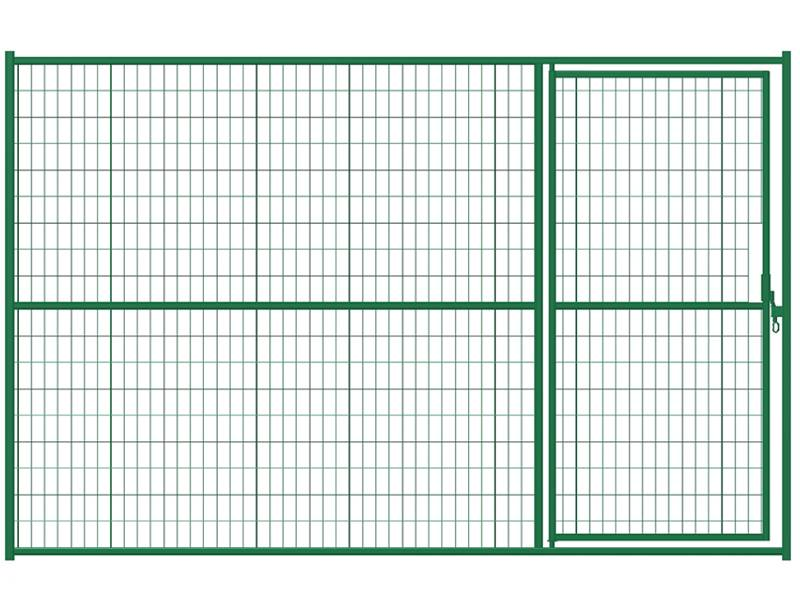 There is a Canada temporary gate panel with green color.